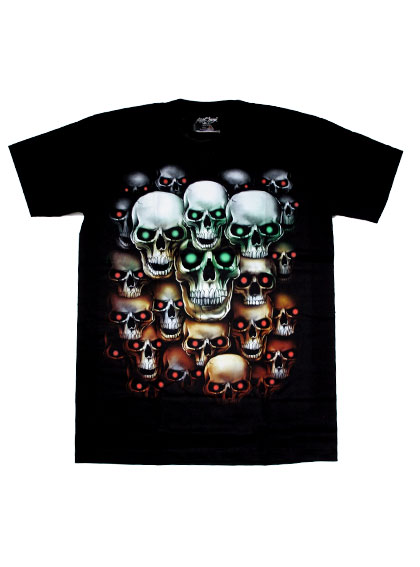 th0026-tshirt-glowing-skull-z